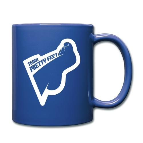 TEAM PRETTY FEET White Foot Logo - Full Color Mug