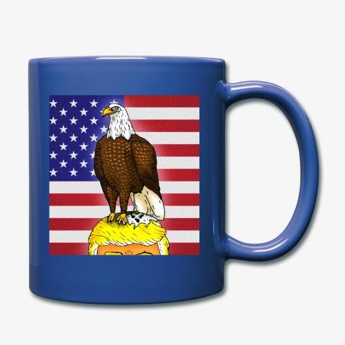 Patriotic Bald Eagle Dumps on Trump - Full Color Mug