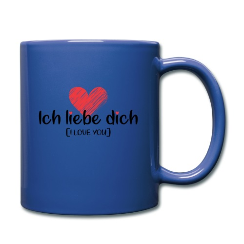 Ich liebe dich [German] - I LOVE YOU - Full Color Mug