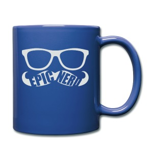 White Epic Nerd Logo - Full Color Mug