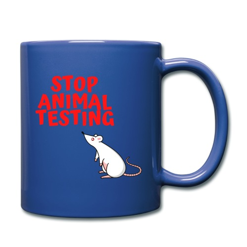 STOP ANIMAL TESTING - Defenseless Laboratory Mouse - Full Color Mug