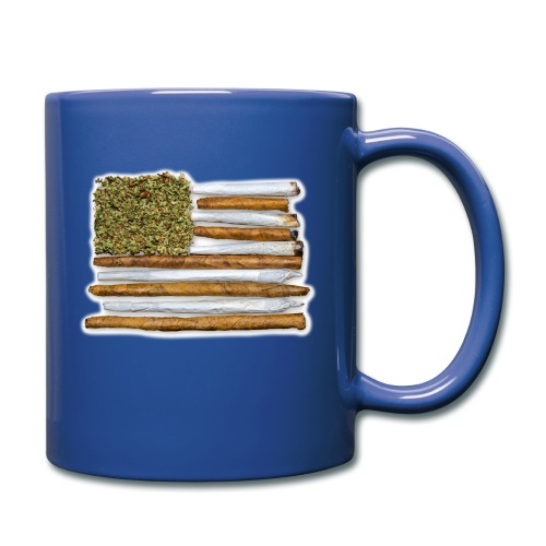 American Flag With Joint - Full Color Mug