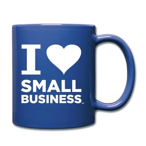 I Heart Small Business Logo (All White) - Full Color Mug
