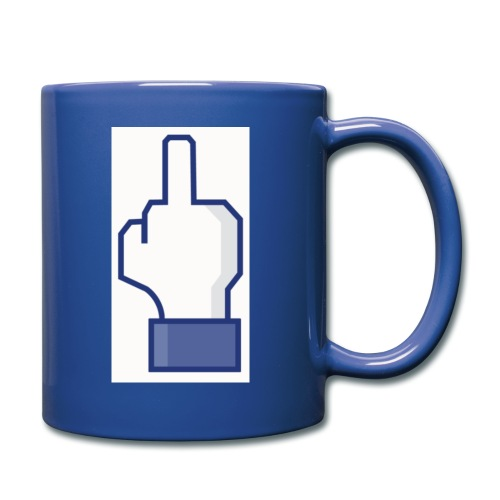 facebook middle finger di - Full Color Mug