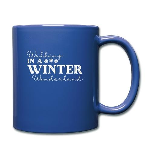 Walking In a Winter Wonderland - Holiday Design - Full Color Mug