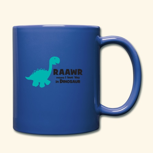 Dino RAAWR Means I Love You Tee - Full Color Mug