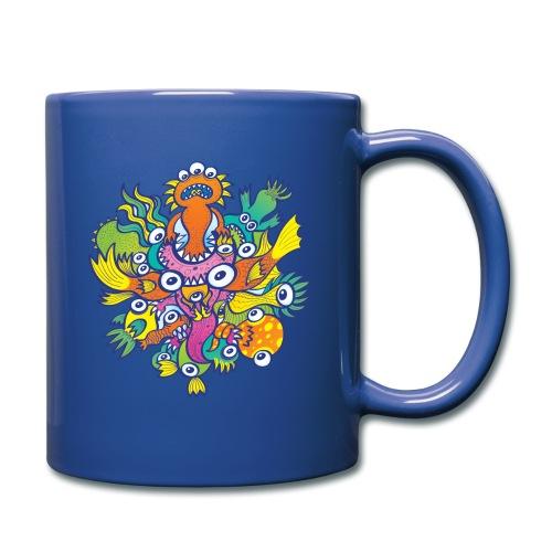 Don't let this evil monster gobble our friend - Full Color Mug