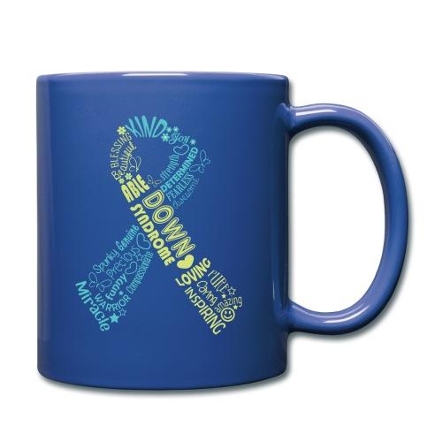 Down syndrome Ribbon Wordle - Full Color Mug