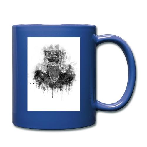 Black Hot Rod Ink Splat - Full Color Mug
