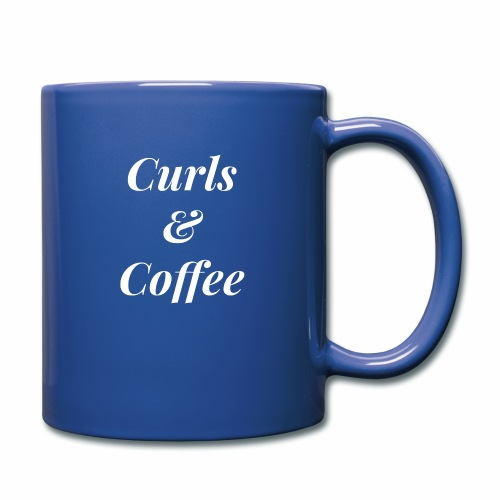 curls and coffee - Full Color Mug