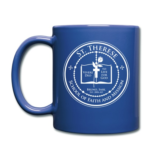 STS School Crest lineart white png - Full Color Mug