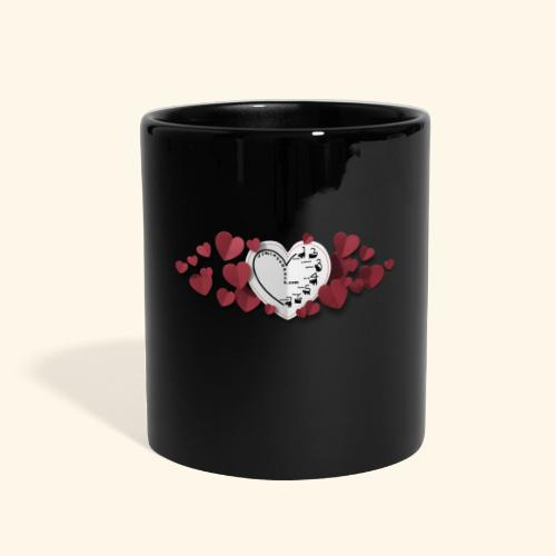 paper valentine hearts 19800 1 - Full Color Mug