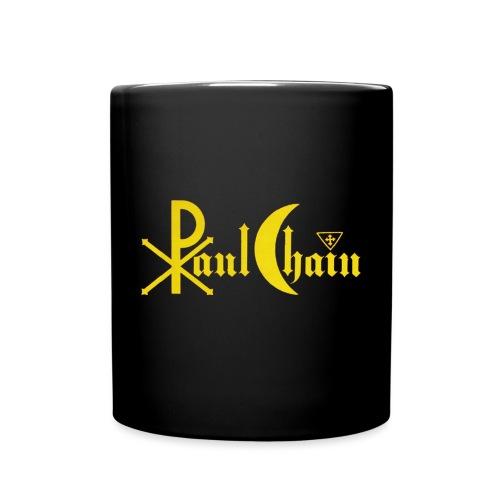 Paul Chain Coffee Mug ~ Yellow on Red - Full Color Mug