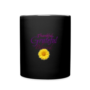 Thankful grateful blessed - Full Color Mug