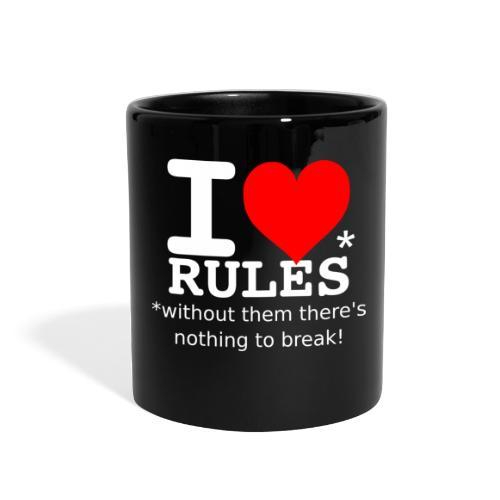 i love rules white - Full Color Mug