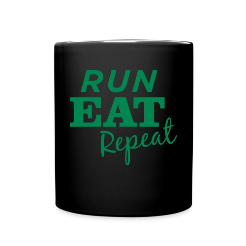 Run Eat Repeat buttons medium - Full Color Mug