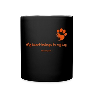 RescueDogs101 My heart belongs to my dog - Full Color Mug