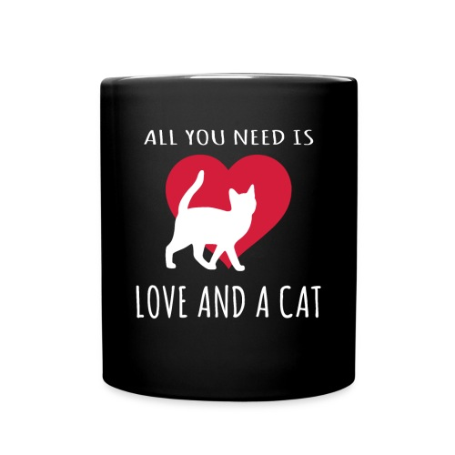 All You Need is Love and a Cat T-shirt - Full Color Mug