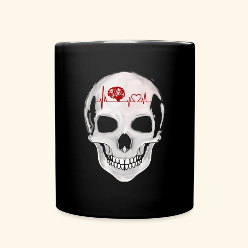 heart beating skull - Full Color Mug