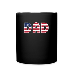DAD + US Flag - Full Color Mug