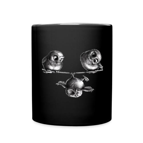 three owls - freedom and fun - Full Color Mug