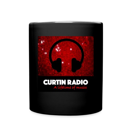 curtinradio square logo with headphones large - Full Color Mug