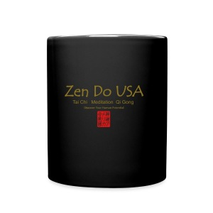 Zen Do USA logo and cell phone clothing busshist - Full Color Mug