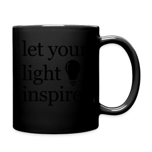 Let Your Light Inspire Sports Tank (black font) - Full Color Mug