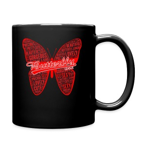 BUTTERFLY WORD RED - Full Color Mug