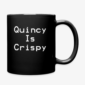 QuincyIsCrispy Text Logo (White) - Full Color Mug