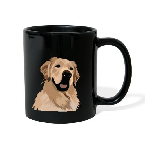 Hand illustrated golden retriever print / goldie - Full Color Mug