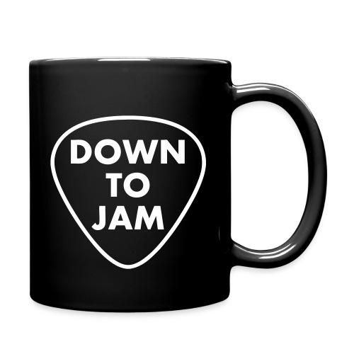 DownToJam white logo noTM - Full Color Mug