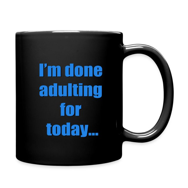 adulting blue mug