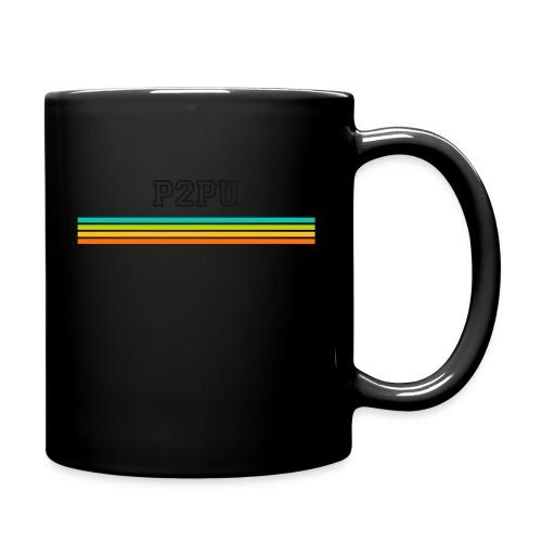striped mug black logo png - Full Color Mug