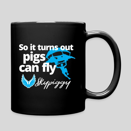 Skypiggy pigsfly dark1 - Full Color Mug