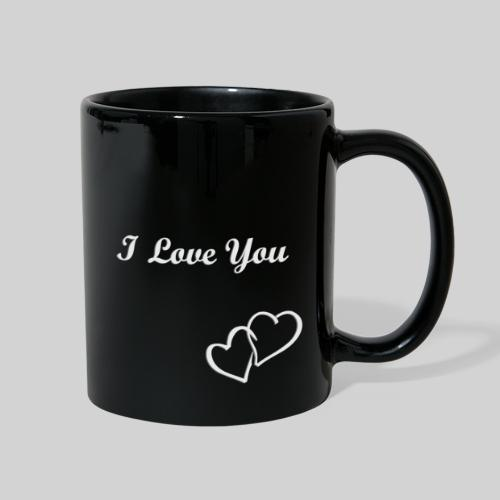 Double Heart Mug Black - Full Color Mug