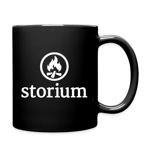 coffee mug white on black png - Full Color Mug