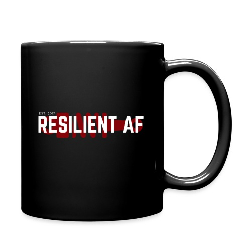 RESILIENT WHITE with red - Full Color Mug