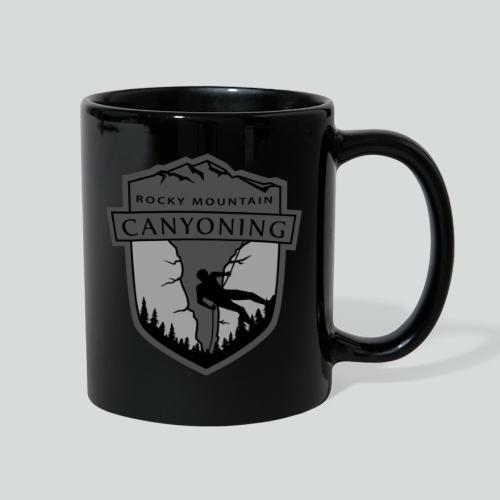 ROCKY MOUNTAIN CANYONING-on dark back-2side-2 logo - Full Color Mug