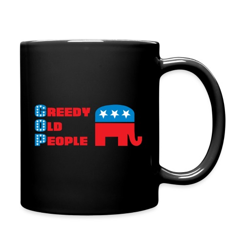 Grand Old Party (GOP) = Greedy Old People - Full Color Mug