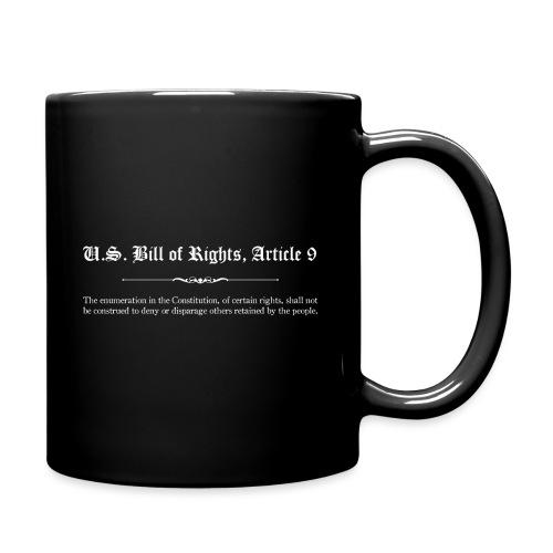 U.S. Bill of Rights - Article 9 - Full Color Mug