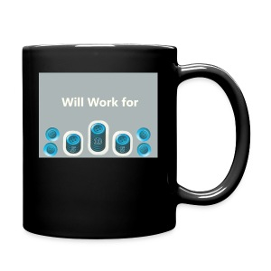 Will_work_for_buttons - Full Color Mug