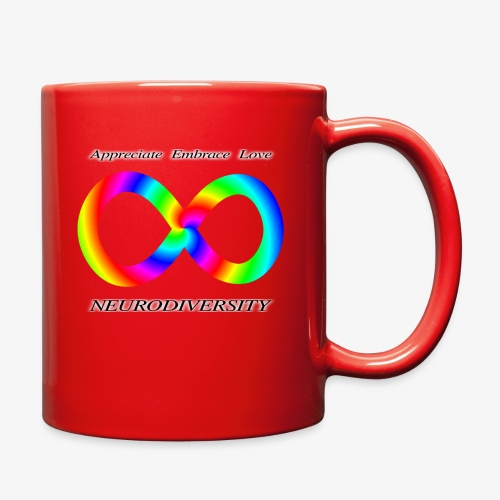 Embrace Neurodiversity with Swirl Rainbow - Full Color Mug