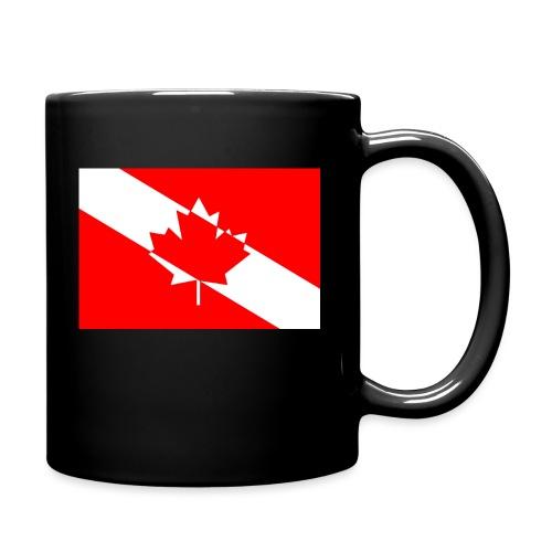 Canadian Diver Flag in Red & White - Full Color Mug
