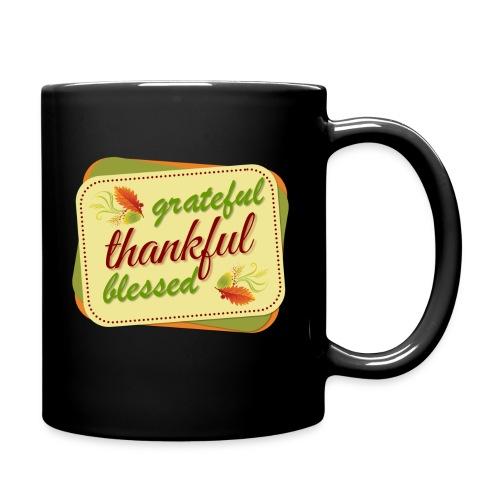 grateful thankful blessed - Full Color Mug