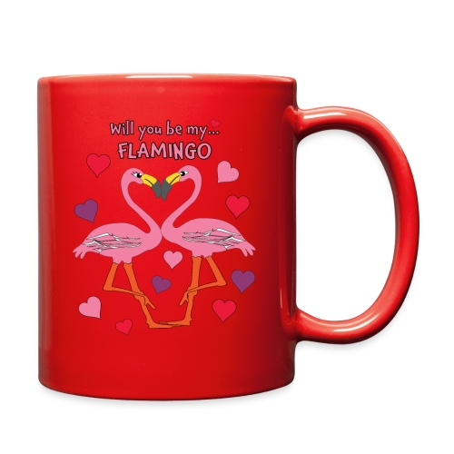 Will You be my Flamingo Valentine Kisses - Full Color Mug