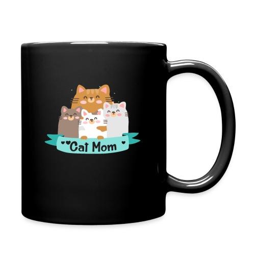 Cat MOM, Cat Mother, Cat Mum, Mother's Day - Full Color Mug