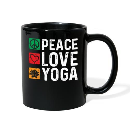 Peace Love Yoga - Full Color Mug