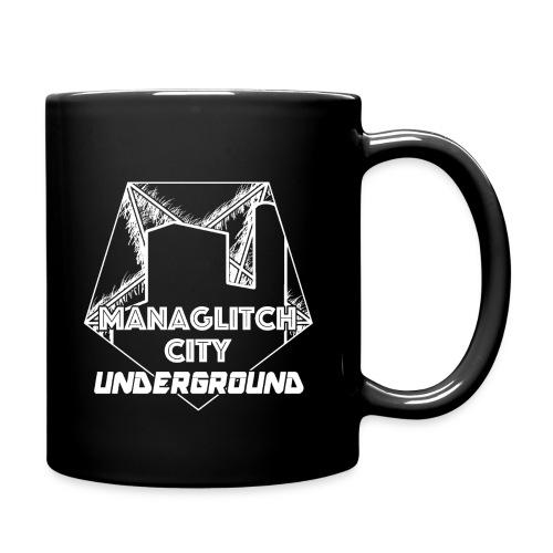 Managlitch white line art - Full Color Mug