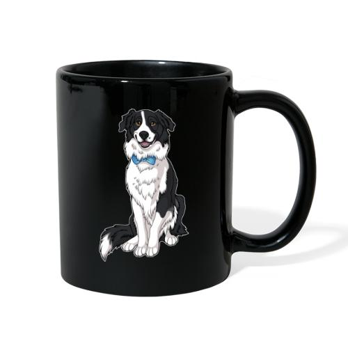 Border Collie Frankie - Transparent Background - Full Color Mug